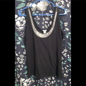XL black w silver sequin maurices tank